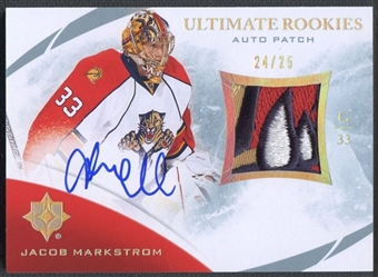2010/11 Ultimate #144 Jacob Markstrom Rookie Patch Auto #24/25