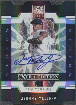 2009 Donruss Elite Extra Edition #48 Jenrry Mejia Signature Status Black Rookie Auto #1/1