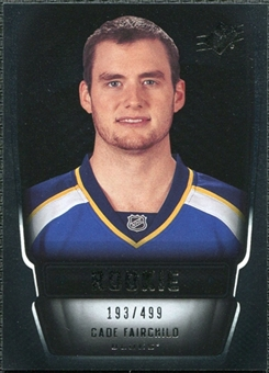 2011/12 Upper Deck SPx #159 Cade Fairchild RC /499