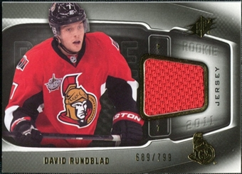 2011/12 Upper Deck SPx #164 David Rundblad RC Jersey /799