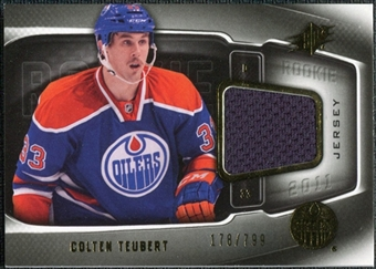 2011/12 Upper Deck SPx #172 Colten Teubert RC Jersey /799