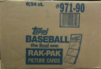 1990 Topps Baseball Rack 6-Box Case
