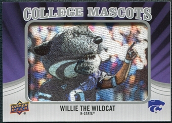 2012 Upper Deck College Mascot Manufactured Patch #CM3 Willie the Wildcat B