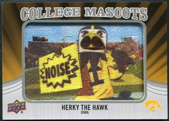 2012 Upper Deck College Mascot Manufactured Patch #CM21 Herky Hawk A