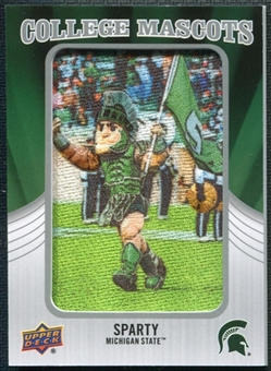 2012 Upper Deck College Mascot Manufactured Patch #CM26 Sparty A