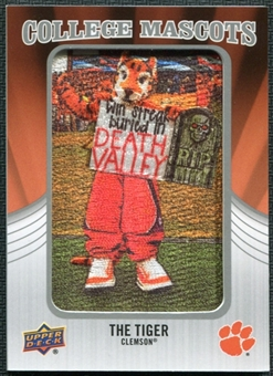 2012 Upper Deck College Mascot Manufactured Patch #CM41 The Clemson Tiger A