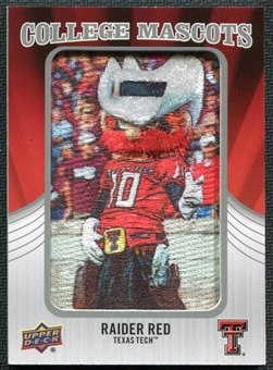2012 Upper Deck College Mascot Manufactured Patch #CM50 Raider Red A
