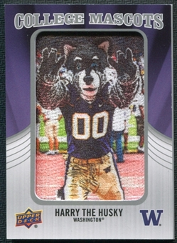 2012 Upper Deck College Mascot Manufactured Patch #CM57 Harry the Husky A