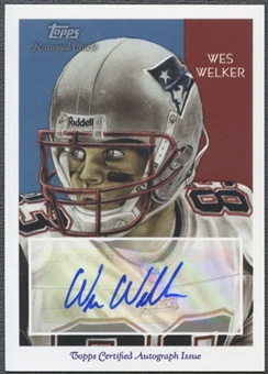 2009 Topps National Chicle #NCAWW Wes Welker Auto