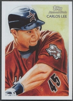 2010 Topps National Chicle #77 Carlos Lee Umbrella Red Back #1/1