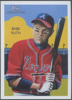 2010 Topps National Chicle #276 Babe Ruth Cowhide #1/1