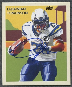 2009 Philadelphia National Chicle #NC60 LaDainian Tomlinson Auto #18/21