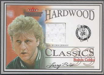2004/05 Fleer Throwbacks #LB Larry Bird Hardwood Classics Jersey #30/99