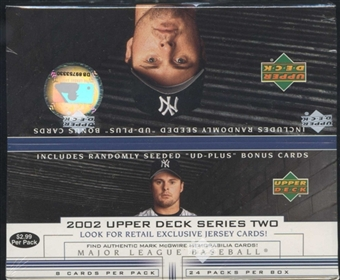2002 Upper Deck Series 2 Baseball 24 Pack Box