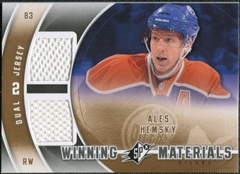2011/12 Upper Deck SPx Winning Materials #WMAH Ales Hemsky E