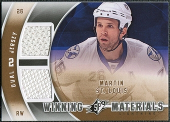 2011/12 Upper Deck SPx Winning Materials #WMMS Martin St. Louis D