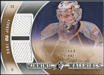 2011/12 Upper Deck SPx Winning Materials #WMPR Pekka Rinne E