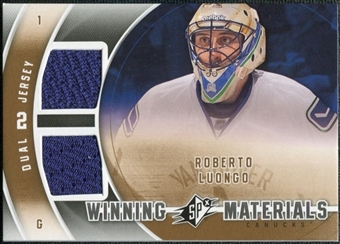 2011/12 Upper Deck SPx Winning Materials #WMRL Roberto Luongo E