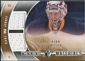 2011/12 Upper Deck SPx Winning Materials #WMRM Ryan Miller E