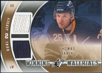 2011/12 Upper Deck SPx Winning Materials #WMTV Thomas Vanek E