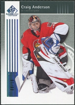 2011/12 Upper Deck SP Game Used Silver Spectrum #66 Craig Anderson /10