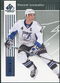2011/12 Upper Deck SP Game Used Silver Spectrum #85 Vincent Lecavalier /10