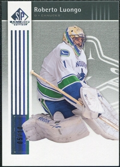 2011/12 Upper Deck SP Game Used Silver Spectrum #91 Roberto Luongo /10