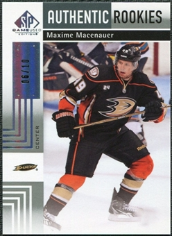 2011/12 Upper Deck SP Game Used Silver Spectrum #105 Maxime Macenauer RC /10
