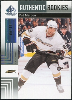 2011/12 Upper Deck SP Game Used Silver Spectrum #173 Pat Maroon RC /10