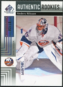 2011/12 Upper Deck SP Game Used Silver Spectrum #184 Anders Nilsson RC /10