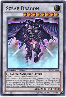 Yu-Gi-Oh Limited Edition Tin Single Scrap Dragon Super Rare CT09 - NEAR MINT (NM)