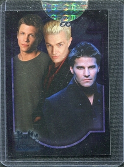2005 InkWorks Buffy the Vampire Slayer Men of Sunnydale Box Loaders #CL1 Angel Riley & Spike