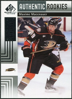 2011/12 Upper Deck SP Game Used #105 Maxime Macenauer RC /699