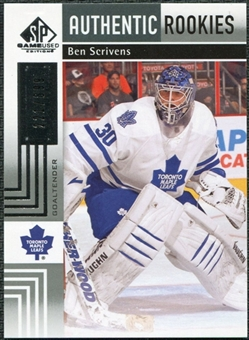 2011/12 Upper Deck SP Game Used #111 Ben Scrivens RC /699