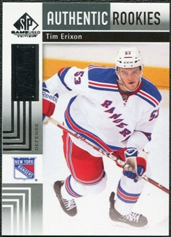 2011/12 Upper Deck SP Game Used #112 Tim Erixon RC /699