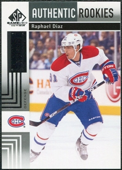 2011/12 Upper Deck SP Game Used #114 Raphael Diaz RC /699