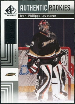 2011/12 Upper Deck SP Game Used #115 Jean-Philippe Levasseur RC /699