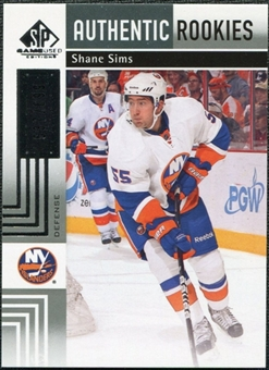 2011/12 Upper Deck SP Game Used #116 Shane Sims RC /699