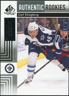 2011/12 Upper Deck SP Game Used #134 Carl Klingberg RC /699