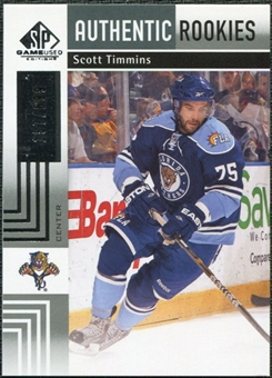 2011/12 Upper Deck SP Game Used #136 Scott Timmins RC /699