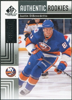 2011/12 Upper Deck SP Game Used #137 Justin DiBenedetto RC /699
