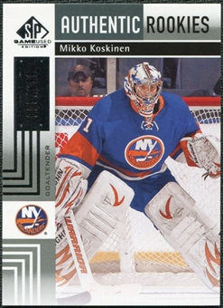 2011/12 Upper Deck SP Game Used #140 Mikko Koskinen RC /699
