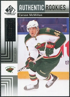 2011/12 Upper Deck SP Game Used #147 Carson McMillan RC /699