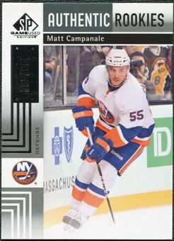 2011/12 Upper Deck SP Game Used #149 Matt Campanale /699