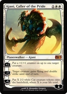 Magic the Gathering 2014 Single Ajani, Caller of the Pride - NEAR MINT (NM)