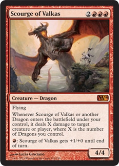 Magic the Gathering 2014 Single Scourge of Valkas - NEAR MINT (NM)