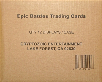 DC Comics Epic Battles Trading Cards 12-Box Case (Cryptozoic 2014)