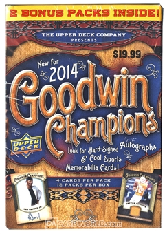 2014 Upper Deck Goodwin Champions 12-Pack Box