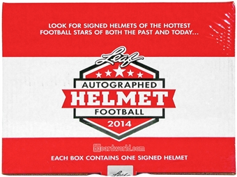 2014 Leaf Autographed Full-Size Helmet Football Hobby Box