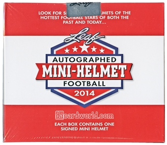 2014 Leaf Autographed Mini-Helmet Football Hobby Box